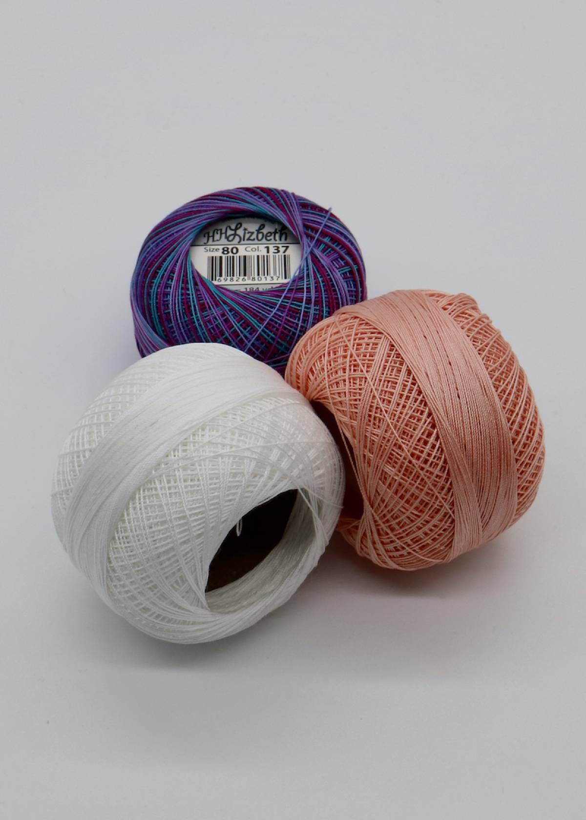 Lizbeth Egyptian Cotton Crochet Thread Size 80 Color 643 Medium Grape